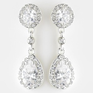 Elegance by Carbonneau Silver Clip On Chandelier Drop Earrings