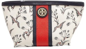 Tory Burch NEW TORY BURCH FLORAL SPRING SUMMER COSMETIC MAKEUP BAG CASE NWT