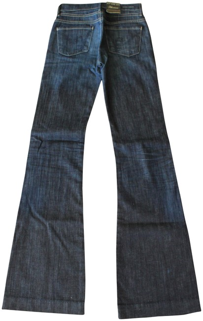 Item - Blue Dark Rinse Hutton New with Tags Trouser/Wide Leg Jeans Size 24 (0, XS)