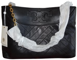 Tory Burch Alexa Leather Tote in black