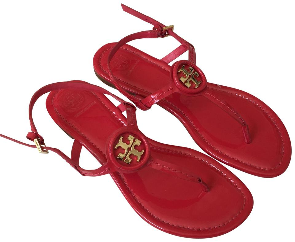 d2ae50f81 Tory Burch Red Emmy Sandals Size US 7 Regular (M