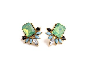 Kate Spade Gold and Crystal Cluster Stud Earrings