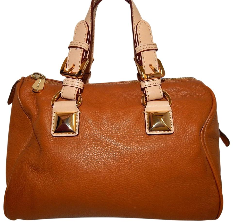 0959a9e841ad ... new zealand michael kors grayson leather satchel in brown 01aa8 627cb