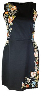 Alice + Olivia Sequin Floral Evening Embroidered Dress