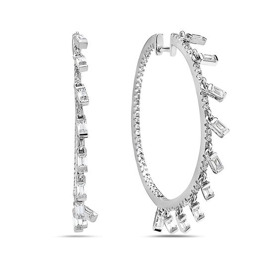 Preload https://img-static.tradesy.com/item/23293518/crush-and-fancy-white-tone-925-sterling-silver-crystal-hoops-with-dangling-crystal-baguette-charm-ea-0-0-540-540.jpg