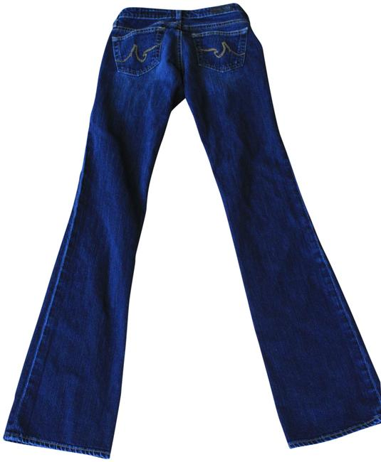 AG Adriano Goldschmied Blue Dark Rinse The Angel Boot Cut Jeans Size 24 (0, XS) AG Adriano Goldschmied Blue Dark Rinse The Angel Boot Cut Jeans Size 24 (0, XS) Image 1
