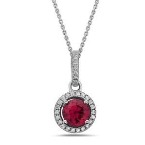 Crush & Fancy 925 Sterling Silver Crystal Solitaire Necklace