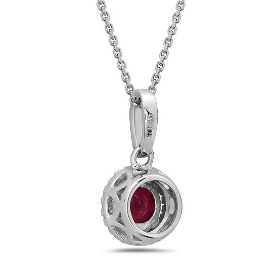 Crush & Fancy 925 Sterling Silver Crystal Solitaire Necklace Image 1