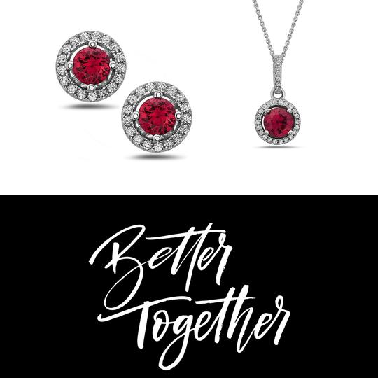 Crush & Fancy 925 Sterling Silver Crystal Solitaire Necklace Image 3