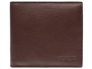 Coach $150 NWT DOUBLE BILLFOLD WALLET IN CALF LEATHER F75084