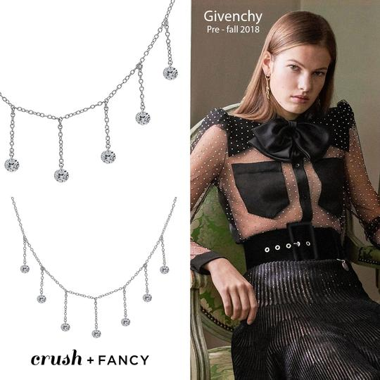 Crush and Fancy 925 Sterling Silver Rose Tone Briolette Choker. Image 2