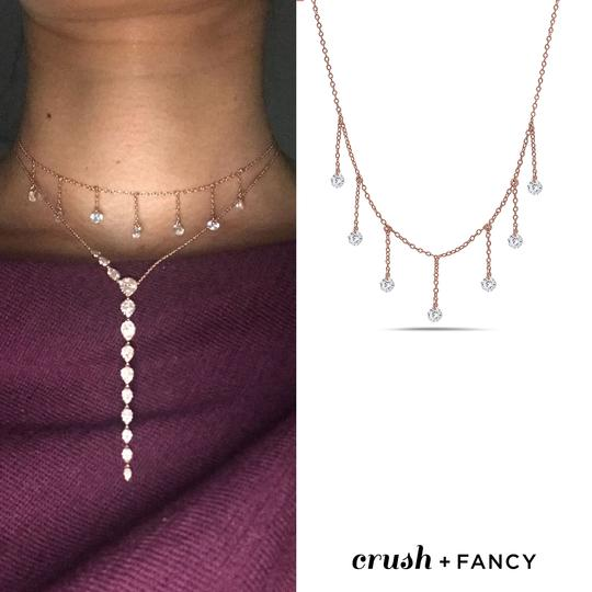 Crush and Fancy 925 Sterling Silver Rose Tone Briolette Choker. Image 3