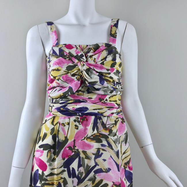 Banana Republic short dress multicolor floral Silk Strapless Summer on Tradesy Image 1