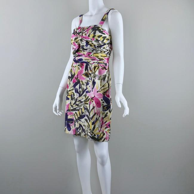 Banana Republic short dress multicolor floral Silk Strapless Summer on Tradesy Image 2