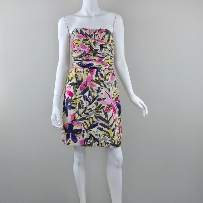 Banana Republic short dress multicolor floral Silk Strapless Summer on Tradesy Image 3