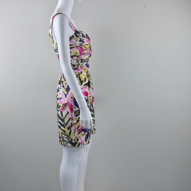 Banana Republic short dress multicolor floral Silk Strapless Summer on Tradesy Image 4