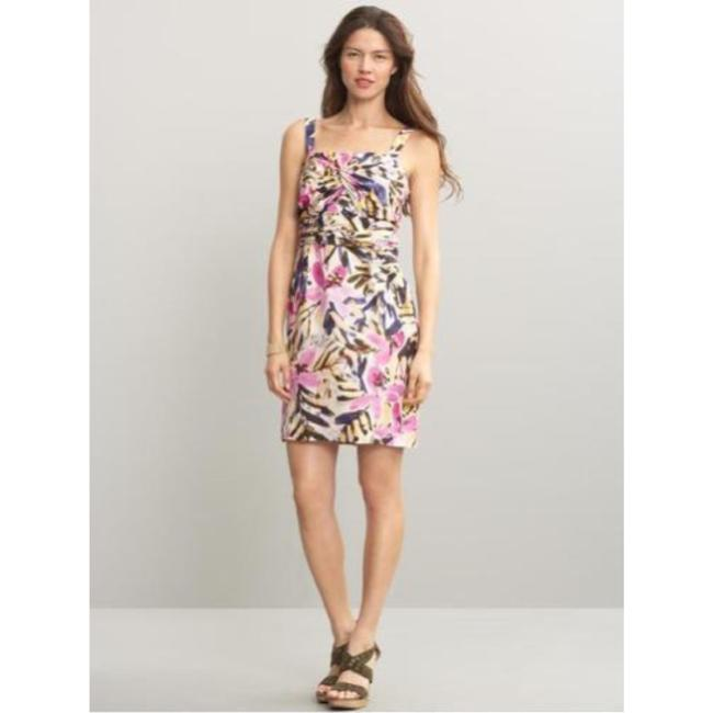 Banana Republic short dress multicolor floral Silk Strapless Summer on Tradesy Image 8