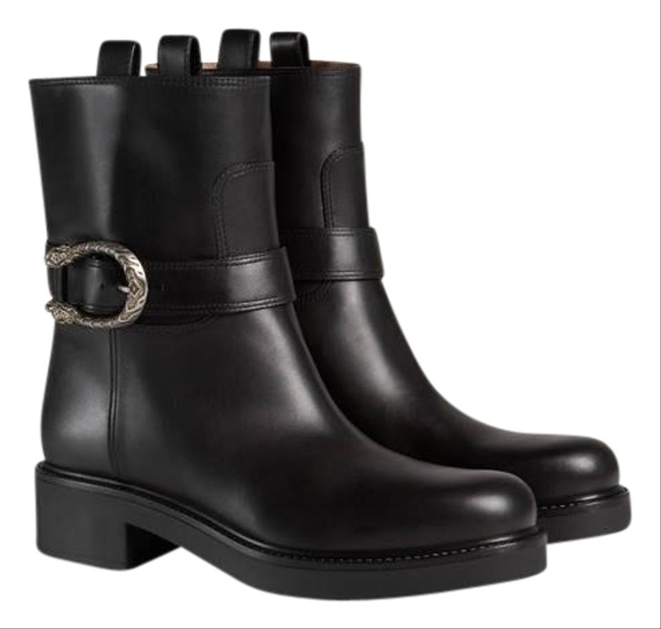 c2a4cc0a714 Gucci Dionysus Leather Ankle Boots Booties Size EU 41 (Approx. US 11 ...