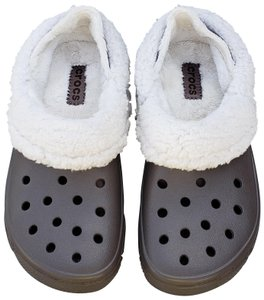 Crocs Fleece Lined Vented Pewter Mules