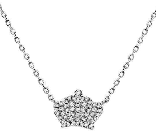Preload https://img-static.tradesy.com/item/23293979/crush-and-fancy-white-tone-925-sterling-silver-crown-crystal-pendant-necklace-0-1-540-540.jpg