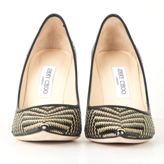 Jimmy Choo black and gold Pumps Image 1