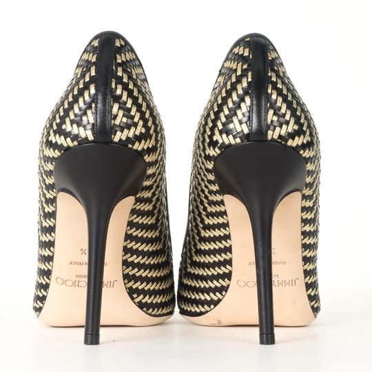 Jimmy Choo black and gold Pumps Image 3
