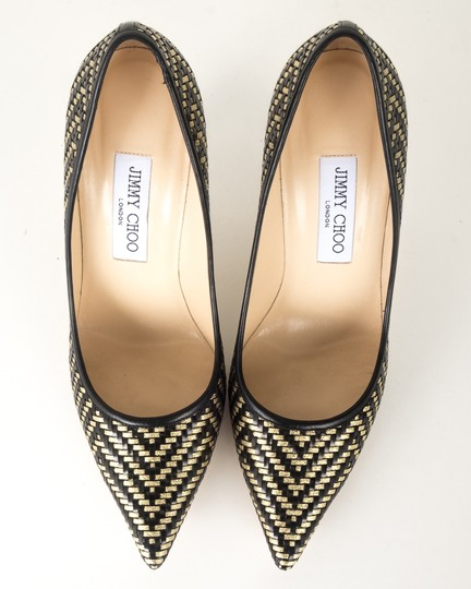 Jimmy Choo black and gold Pumps Image 5