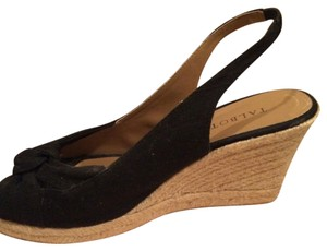 Talbots Wedge Sandle black Wedges