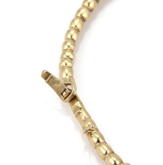 Other Estate 14k Yellow Gold Swirl Design Long Section Link Collar Necklace Image 1