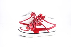 Louis Vuitton * Red/White Damier High Patent Sneakers Shoes