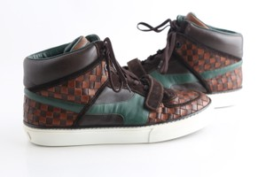 Louis Vuitton Multicolor Damier High Brown/Green Sneakers Shoes
