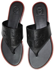 Tory Burch New With Tags Logo Miller Black Sandals