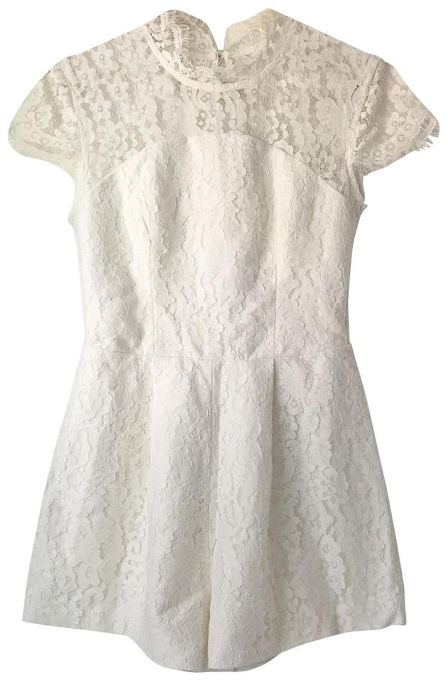 cd6a8026a1f Keepsake the Label White   Cream Floral Lace Romper Jumpsuit - Tradesy