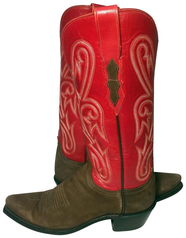 76b210d6e2d Lucchese Red 1883 Leather Western Cowgirl Women's Boots/Booties Size US 6.5  Regular (M, B) 52% off retail