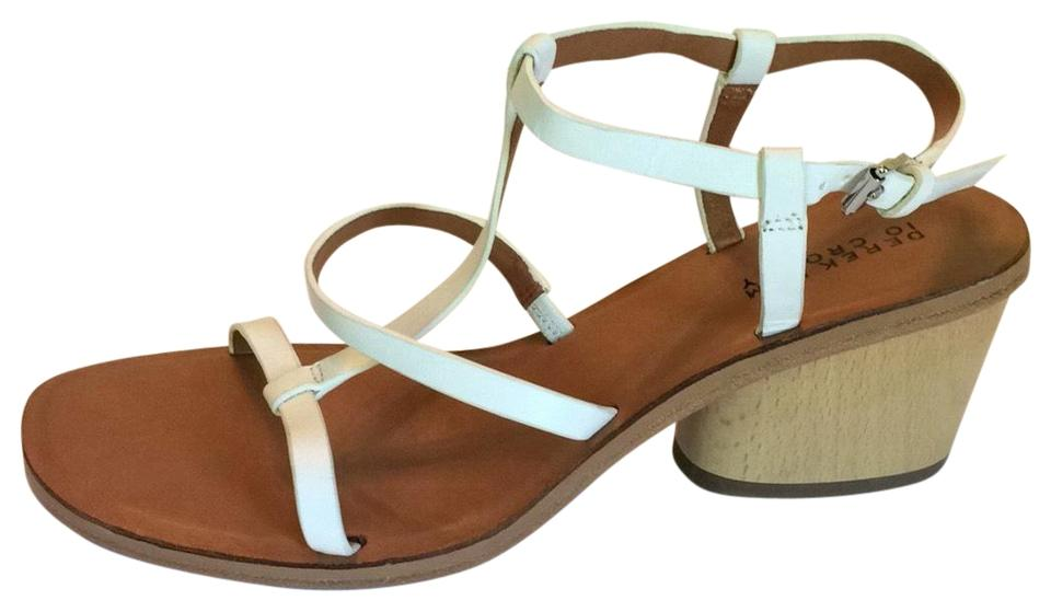 44f929a7be284 Derek Lam White 10 Crosby Andrea Leather Wood Sandals Size US 7 Regular (M,  B) 68% off retail