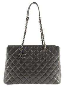 Chanel Shopper Grand Shopper Shopping Caviar Shopper Gran Shopping Tote in Black