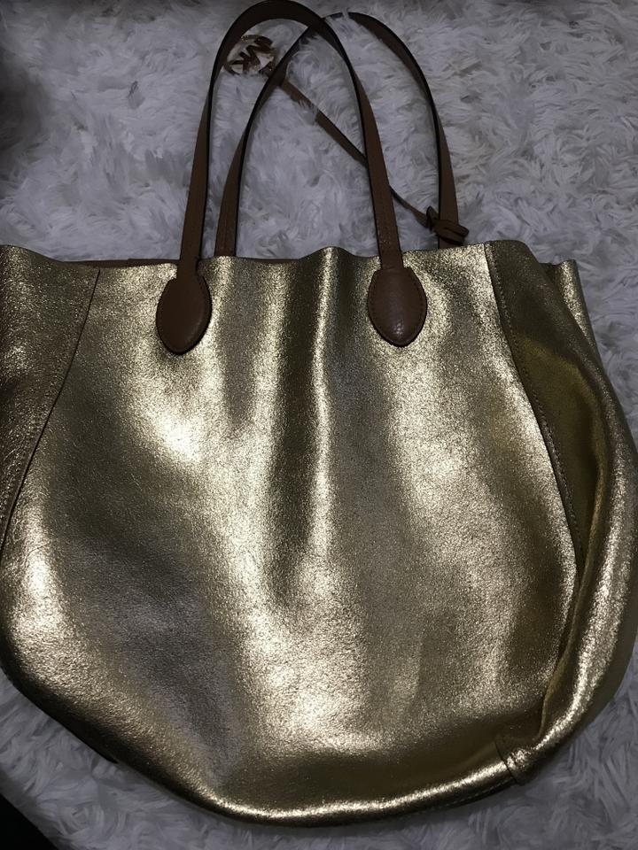 d33f314f8303 Michael Kors 2 Colors Bags Brown/Gold Leather Tote - Tradesy
