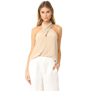 Theory Light Barley Beige Halter Top