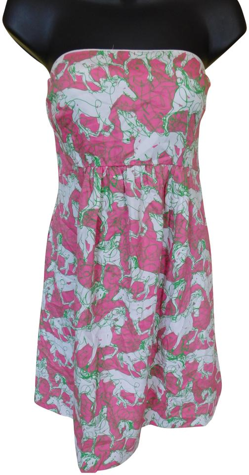 c8752a88f3144f Lilly Pulitzer Pink and Green Wyatt In Hot To Trot Short Casual ...