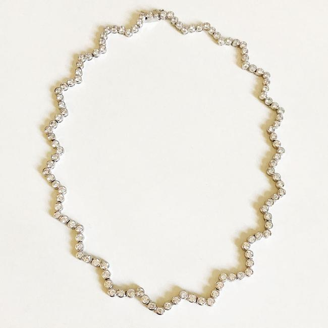 Item - Rhodium with Clear Cz Necklace