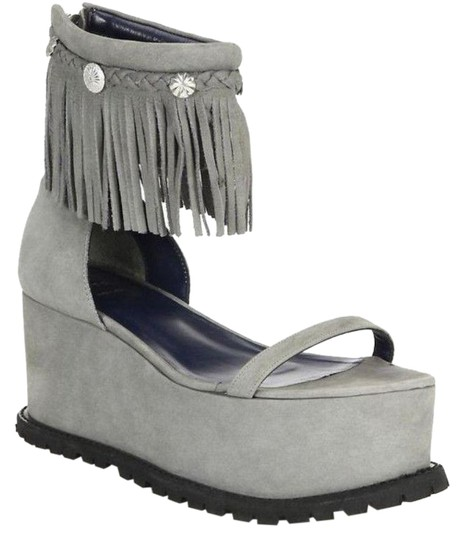Preload https://img-static.tradesy.com/item/23295105/sacai-gray-fringe-ankle-strap-platform-sandals-size-eu-40-approx-us-10-regular-m-b-0-1-540-540.jpg