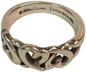 Tiffany & Co. Tiffany & Co. Paloma Picasso Loving Heart Band Ring in Sterling Silver