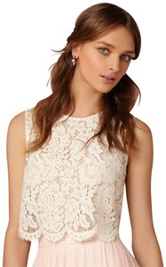 BHLDN Croptop Lace Cleo Seperates Top ivory