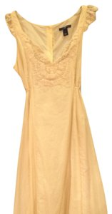 Gap short dress Cream Romantic Breezy Ties In The Back on Tradesy