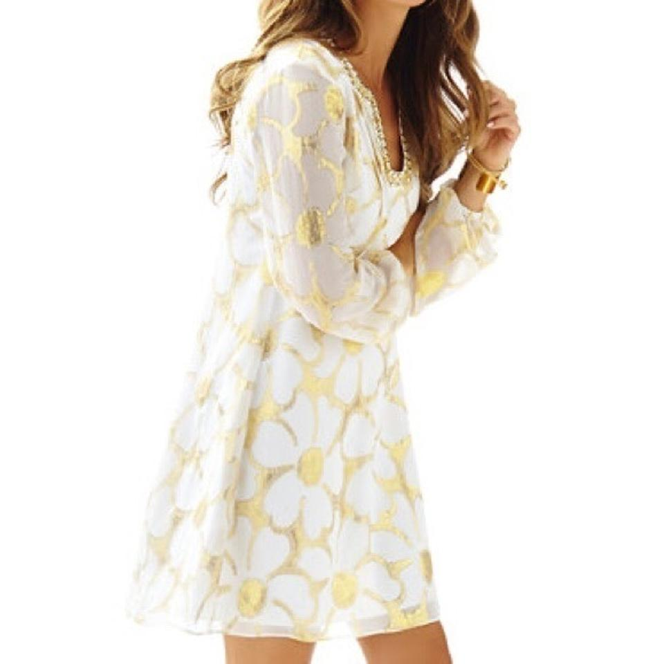 b82445ee72068d Lilly Pulitzer short dress White and Gold on Tradesy Image 7. 12345678