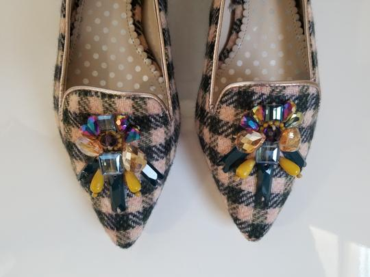 Boden Tweed Crystal Leather Gray, Ivory Flats Image 1
