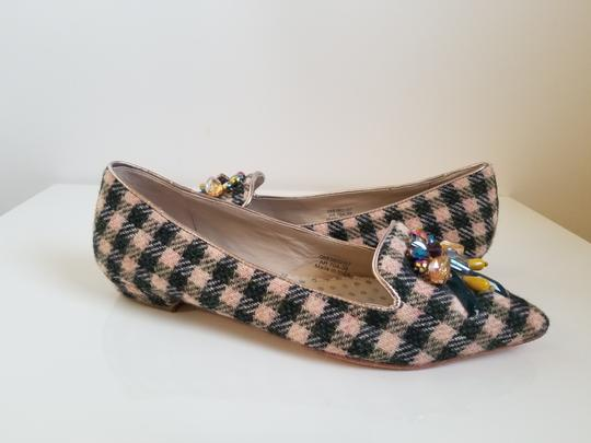 Boden Tweed Crystal Leather Gray, Ivory Flats Image 2