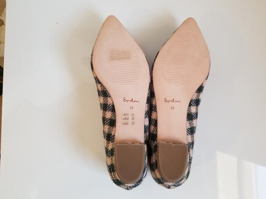 Boden Tweed Crystal Leather Gray, Ivory Flats Image 3