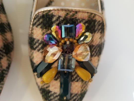 Boden Tweed Crystal Leather Gray, Ivory Flats Image 5