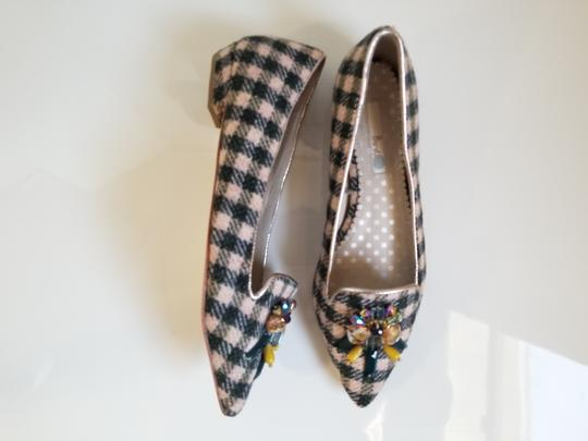 Boden Tweed Crystal Leather Gray, Ivory Flats Image 6